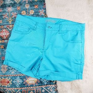 Faded Glory Teal Blue Shorts 18